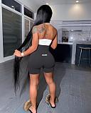 Sexy Pink Tight Backless Zipper High Waist Romper YD-8216