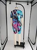 2020 Vogue Tie-dye Plus Size Two Pieces Short Suits XMY-9237