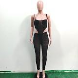Sexy Leopard Print One-Piece Vest+Tight Pants Two-Piece Set JUI-2061
