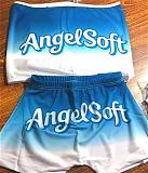 Sexy Cute Pattern Sleeveless Wrap Bra Yoga Shorts Set SHD-9297