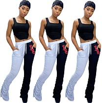 Hot Style Belly-Navel Tank Top Matching Pants Two-piece Set QZX-6142