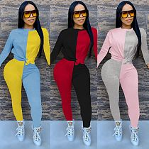 Autumn Matching Color Long Sleeve Trousers Two-piece Set MA-352