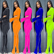 Women's Personality Lines Show Thin Movement Two-piece Set MAE-2053