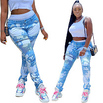 Casual Wash Make Old Stretch Jeans Pencil Leggings HMS-5363