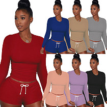 Stylish Long Sleeve Round Neck Home Wear Sport Suit YS-8690