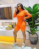 Fashion Slim Curve Long Sleeve Low Waist Sport Romper BANM-7115