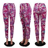 Autumn Fashion Multicolor Printed Straight-Leg Pants KSN-8027