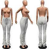 Hot Style Hoodie Fabric Zip Pocket Pleated Slacks FSL-101
