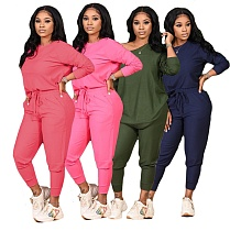 Women Long Sleeve T-shirt Top Leggings Pants Sportswear CN-0067