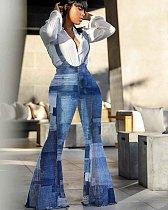 Sweet Jumpsuit Denim Plus Size Overalls Pants RS-858