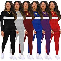 Long Sleeve Tee Tops Skinny Sweatpants Matching Set Outfits MOS-1130