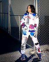 Graffiti Streetwear Hoodies Pants Women Matching Sets MYP-8950