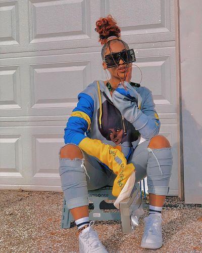 Street Print Women Long Sleeve Loose Hoody Streetwear Hoodies BER-8049