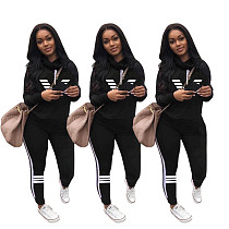 Casual Long Sleeve Turtleneck Sweatshirt Two Piece Pants Outfits RM-6316