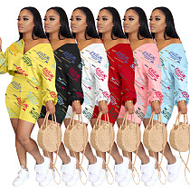 Women Print Full SleeveT-Shirts Shorts Two Piece Matching Set ARM-8246