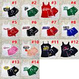 Fashion Loose O-neck Sleeveless Vest Shorts Sports 2piece Set SHD-9347