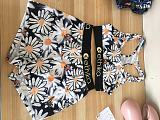 Summer Pattern Print Crop Top Push Up Shorts Two Piece Set OD-8419