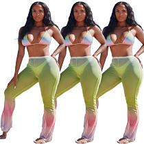 Summer Gradient Print Bra+Skinny Pants Swimsuit 2 Pieces ORY-5185