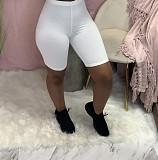 Women Sexy Solid Color Knee-length Bodycon Biker Shorts YH-5208