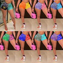 Sexy Streetstyle Paisley Bandanna Print Slim Beach Shorts ML-7430