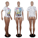 Summer Fashion Cartoon Printing Short Sleeve Shirt T-Shirts SHD-9231