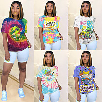 Summer Fashion Cartoon Printing Short Sleeve Shirt T-Shirts SHD-9231