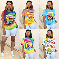 Fashion Cartoon Printing Short Sleeve Round Neck T-Shirts SHD-9232