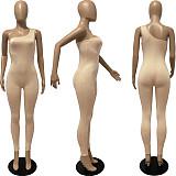 Fashion One-Shoulder Sleeveless Bodycon Fitness Jumpsuit FSL-130