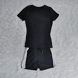 Hot Style Short Sleeve T-shirt Lace-up Shorts 2 Piece Set BNY-7158