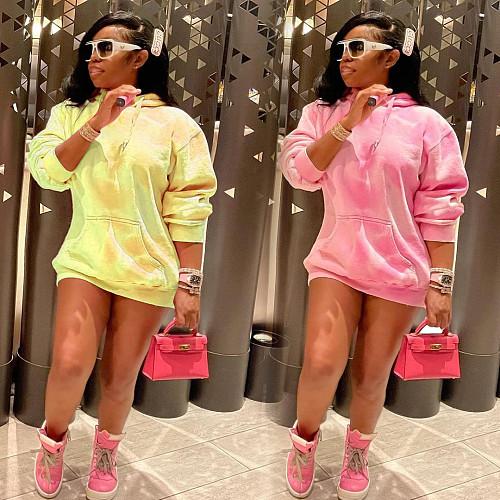 2021 New Women Autumn Long Sleeve Fashion Print Loose Oversize Pullover Hooded Sweatshirt JLY-19226