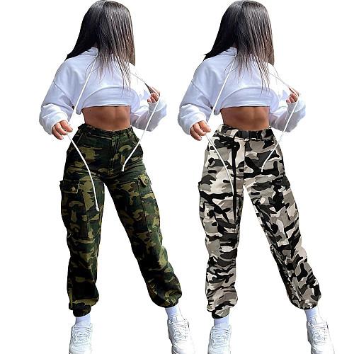 Camouflage Streetwear Loose Joggers Cargo Pants LSD-8010