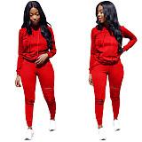 Red Broken Holes Hoodies Pants Set RS-6442
