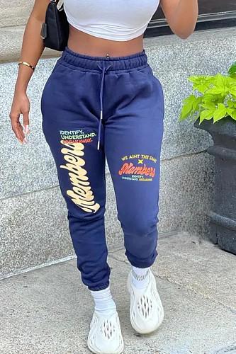 Letter Printed Drawstring Streetwear Sweatpants CYAO-00030