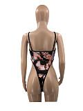 Print Spaghetti Strap Bodysuit Skinny Pants Set