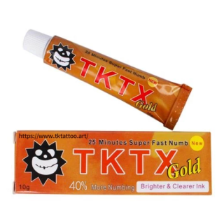 TKTX 40% Gold  Numbing Cream Anesthetic 3-5 hours Fast Semi Permanent Skin Body Duration 10g
