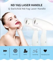 Q switch ND YAG yag laser parts handpiece with 1064nm and 532nm probe