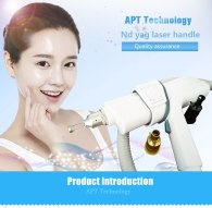 Tattoo/eyebrow removal ND YAG Laser Handpiece/handle red light  with 3pcs laser probe