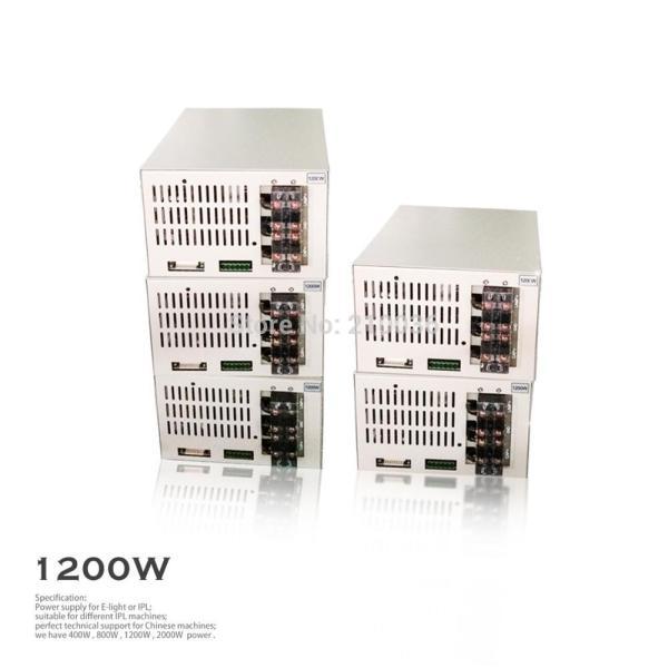model dz 1200W IPL SHR POWER SUPPLY with scientific design and efficient heat dissipation