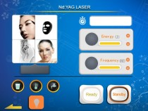 Nd yag laser and Diode laser  touch screen board + control board 8 inches 10.4 inches and 12.1 inches optional