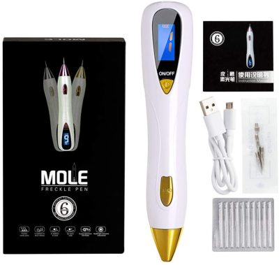 Skin Care Laser Mole Tattoo Freckle Removal Pen LCD Sweep Spot Mole Removing Wart Corns Dark Spot Remover meat chop skin care