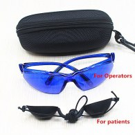 Laser beauty instrument glasses + Goggles for Black charcoal doll / IPL  / OPT / E Light Operators and patients