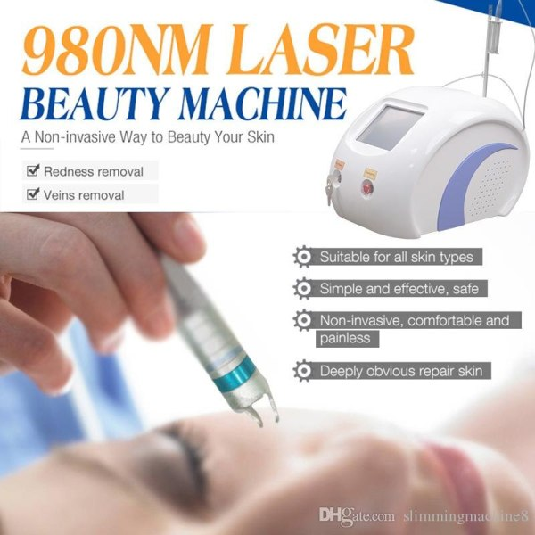 High power 980nm diode laser vein spider remover vascular removal skin rejuvenation machine