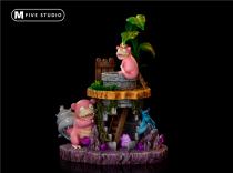【Preorder】M5 Studio Pokemon Slowpoke Slowbro resin statue's post card