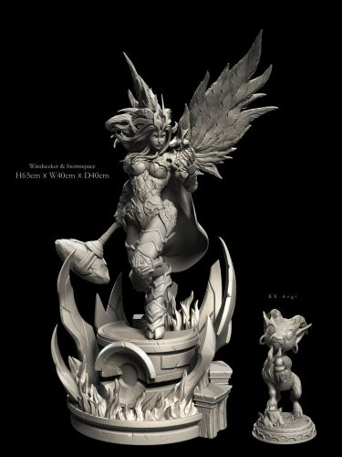 【Preorder】Windseeker WOW Warlords of Draenor Yrel 1:4 resin statue's post card