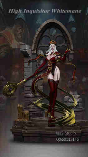 【In Stock】LengShi Studio WOW High Inquisitor Sally Whitemane 1/5 scale resin statue