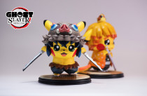 【In Stock】GHOST Studio Demon Slayer Zenitsu&Inosuke pikachu cosplay resin statue