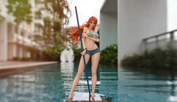 【In Stock】Green Leaf Studio One-Piece Nami 1/4 Scale resin statue