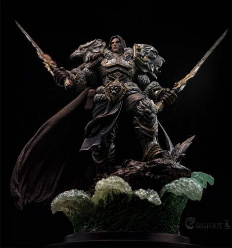 【Preorder】BIG FOOT Studio WOW Varian Wrynn resin statue's post card