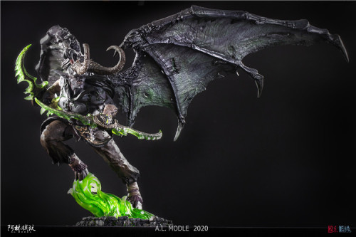 【Preorder】AL Model Warcraft 3 WOW Illidan Stormrage resin statue's post card