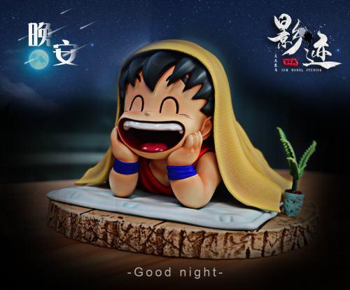 【In Stock】DIM Model Studio Dragon Ball Goku Good Night Resin Statue